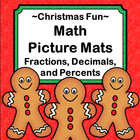 Fractions Decimals and Percents - Math Picture Mats - Chri