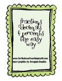 Fractions Decimals and Percents The Easy Way