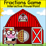 Fractions Game - Farm Animals Theme - Interactive PowerPoint Game