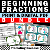 Fractions Bundle Set of 320 Task Cards Activities for Grad