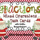 Fractions: Mixed Operations Task Cards