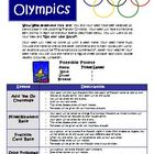 Fractions Olympics Math Games and Activities Common Core