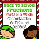 Fractions PART of a WHOLE for Back to School Concentration