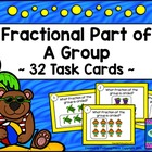 Fractions Task Cards - Part of a Group - Beach Theme