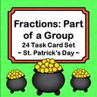 Fractions Task Cards - Part of a Group - St. Patrick's Day