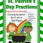 Fractions for St. Patricks Concentration, Go Fish & Old Ma