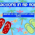 Fractions in Flip Flops: Equivalent Fractions TASK CARDS -
