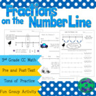 Fractions on the Number Line 3rd Grade Common Core Math