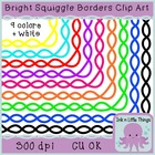 Frames / Borders - Bright Squiggle Frames