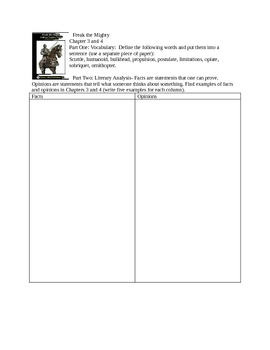Printables Freak The Mighty Worksheets copy of freak the mighty lessons tes teach chapters 3 4 teacherspayteachers