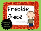Freckle Juice MiniLesson