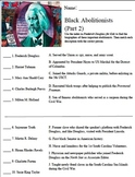 Frederick Douglass for Kids Black Abolitionists Worksheet Part 2