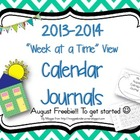 Free August Week at a Time Calendar Journal
