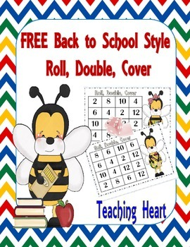 Free Bee Doubles Dice Game for Back To School