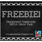 Chalkboard Theme Classroom Decor Pack