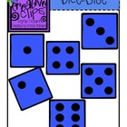 {Free} Blue Dice Clipart {Creative Clips Digital Clipart}