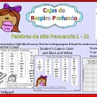 Free: Breath Boxes for Spanish sight words 1 - 21 (Palabra