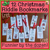 Free Christmas Bookmarks - Funnier by the Dozen
