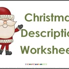 Free Christmas Description Writing Worksheets