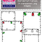 Free Christmas Lights Borders/Frames {Perfect for TPT Products}