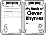 Free Clever Rhymes Mini Book for Fun Fluency Practice