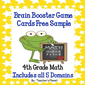 Free Common Core Math 4th Grade Brain Booster Game Cards Sample