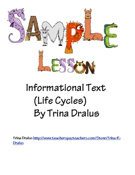 Free Common Core Sample Lesson from Informational Text Uni
