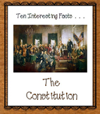 Free Constitution Facts and Foldable Organizers