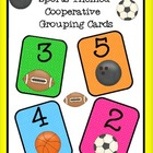 Free Cooperative Grouping Sports Themed Cards