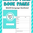 Free Cover and Page for Your Lesson Plan Book