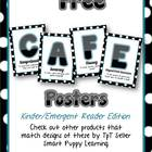 Free Daily 5 CAFE Posters - Kinder Polka Dot