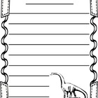 Free Dinosaur Themed Writing Paper