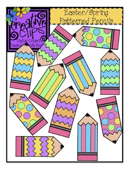 {Free} Easter/Spring Patterned Pencils Clipart