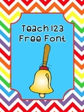 Free Font by Teach 123 (personal and commercial use)