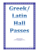 Free Greek Latin Symbol Hall Pass Elementary Gifted Middle