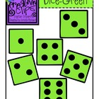{Free} Green Dice Clipart {Creative Clips Digital Clipart}