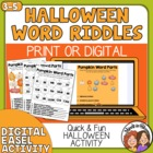 Free Halloween Word Activity