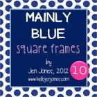 "Free ""Mainly Blue"" Square Frames & Backgrounds Collection"