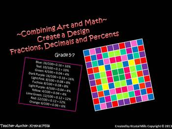 Free Math Activity: Create a Design (Uses Fractions, Decimals and Percents)