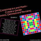 Free Math Activity: Create a Design (Uses Fractions, Decim