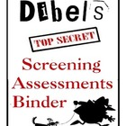Free Mystery and Detective Theme Assessment Binder Dibels