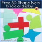 Free Nets of 3D Shapes