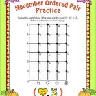 Free November Ordered Pair Activity