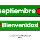 Free Numbers and Sign for September Calendar {Spanish}