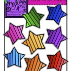 {Free} Paint Chip Stars {Creative Clips Digital Clipart}