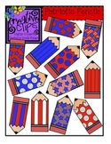 {Free} Patriotic Pencils Clipart