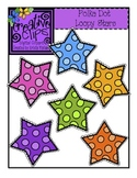 {Free} Polka Dot Stars {Creative Clips Digital Clipart}