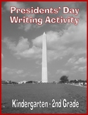 Free Presidents' Day Writing Activity for Kindergarten - 2