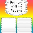 Free Primary Writing Papers