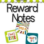 Free Printable Reward Notes in 3 cute designs ( a free pre